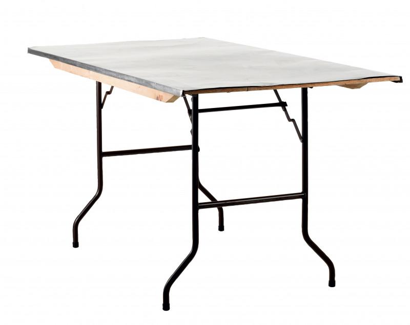 Table dessus inox